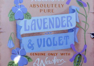 Spa Label 3; Lavender and Violet