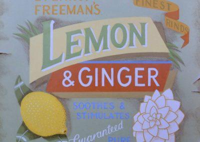 Spa Label 2; Lemon and Ginger