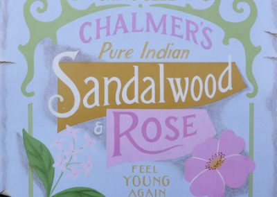 Spa Label 1; Sandalwood and Rose
