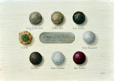 Vintage golf balls 1800 to 1850